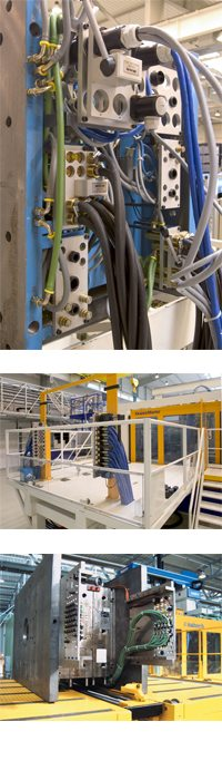 EAS Schnellkupplungen zur Automatisierung des wiederholten Werkzeugwechsels auf Produktionsmaschinen.
